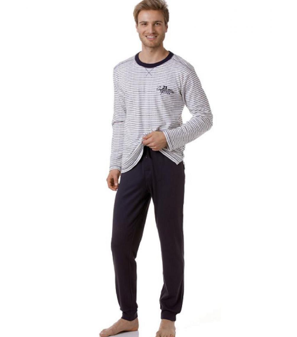 Csíkos férfi pizsama 6d3de22bae