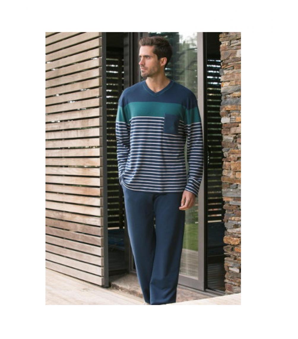 Zsebes férfi pizsama Guasch a7ea4961b2