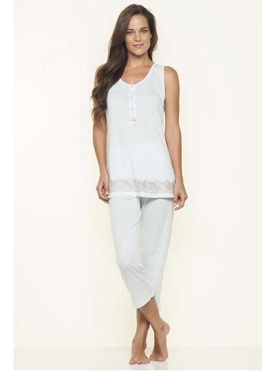 Csipkével díszített nyári pizsama Nota