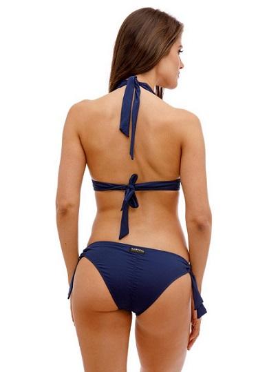 Tüll betétes kék bikini Carib